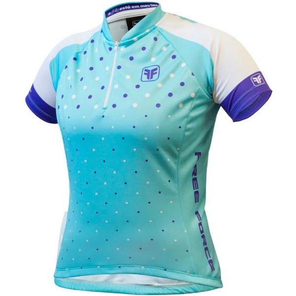 Camisa Ciclismo Free Force Bubble manga curta