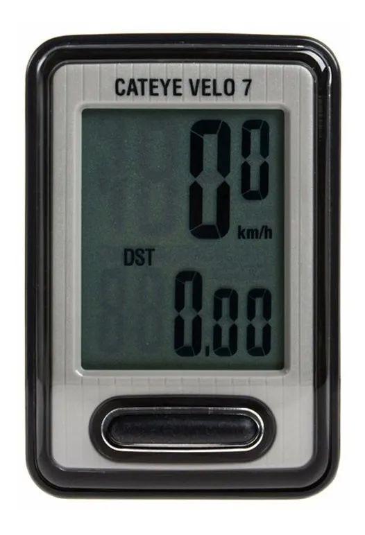 Ciclocomputador Velocímetro Cateye Velo 7 com fio
