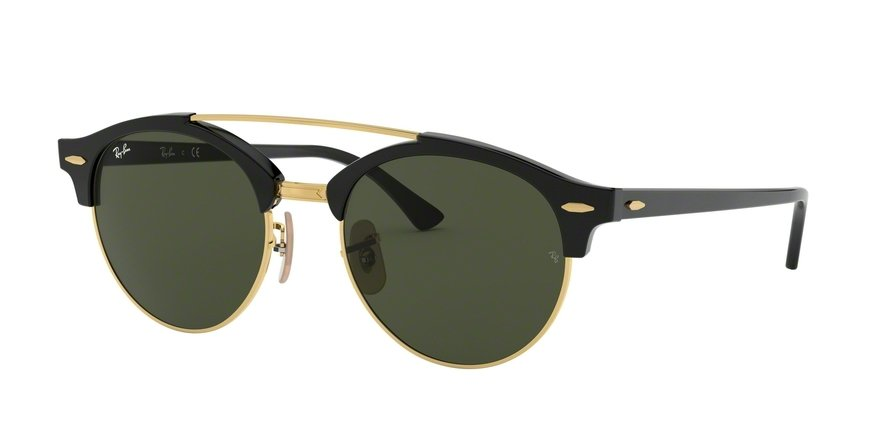 Ray-Ban Clubround Doublebridge 0RB4346 Preto