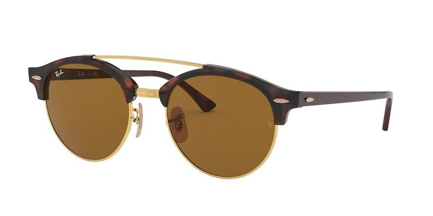 Ray-Ban Clubround Doublebridge 0RB4346 Havana