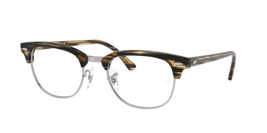 Ray-Ban Optical Clubmaster 0RX5154 Strip Marrom