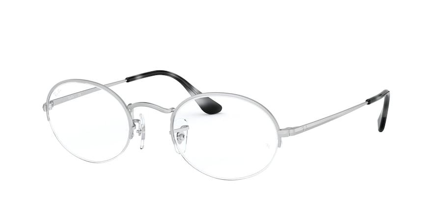Ray-Ban Optical Oval Gaze 0RX6547 Prata