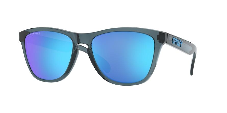 Oakley Frogskins OO9013 Crystal Black Lentes Prizm Sapphire Polarized F6