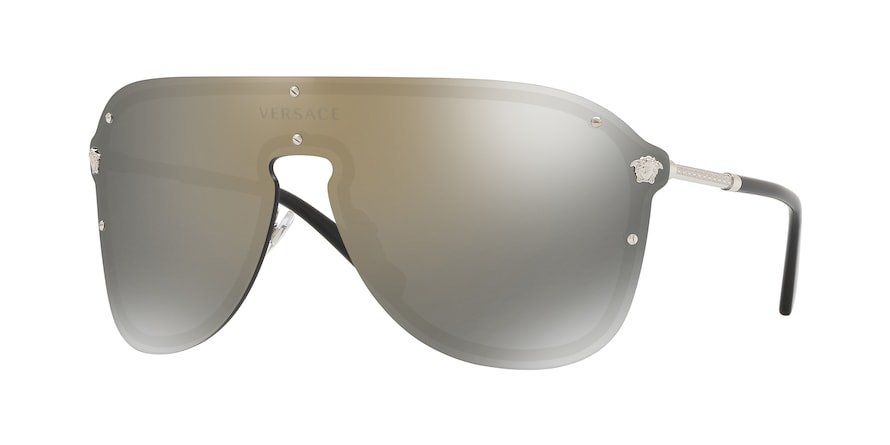 Versace VE2180  Silver Lentes Dark Grey Mirror Gold