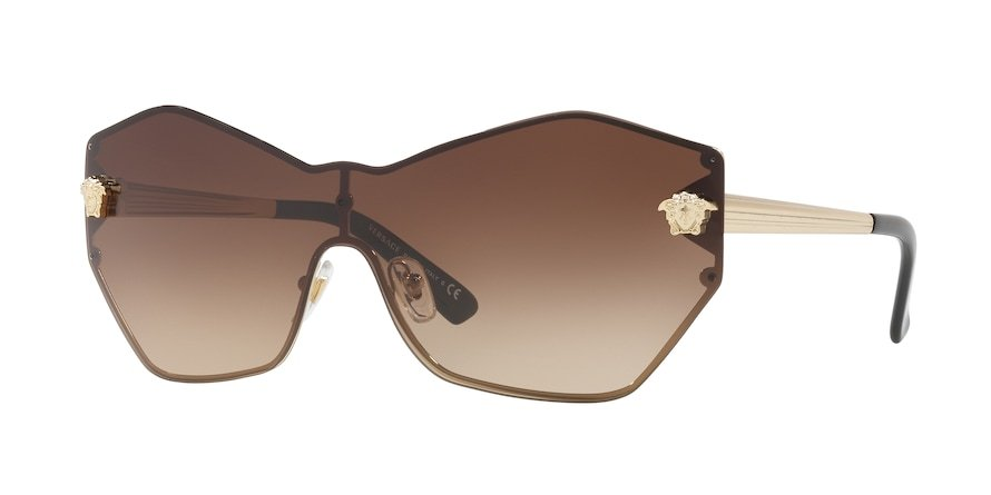 Versace VE2182 GLAM MEDUSA SHIELD Pale Gold Lentes Brown Gradient