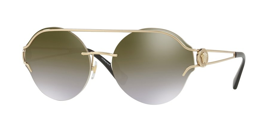 Versace VE2184  Pale Gold Lentes Gradient Brown Mirror Gold