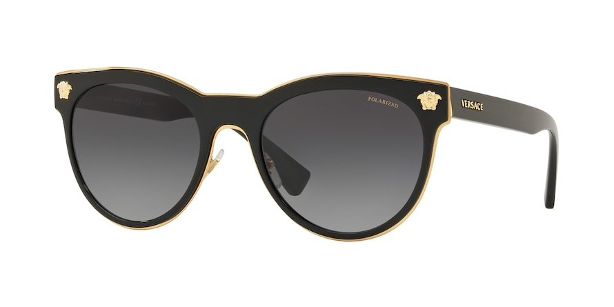Versace VE2198 MEDUSA CHARM Black Lentes Polar Grey Gradient
