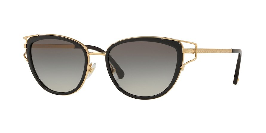 Versace VE2203  Black/Gold Lentes Grey Gradient