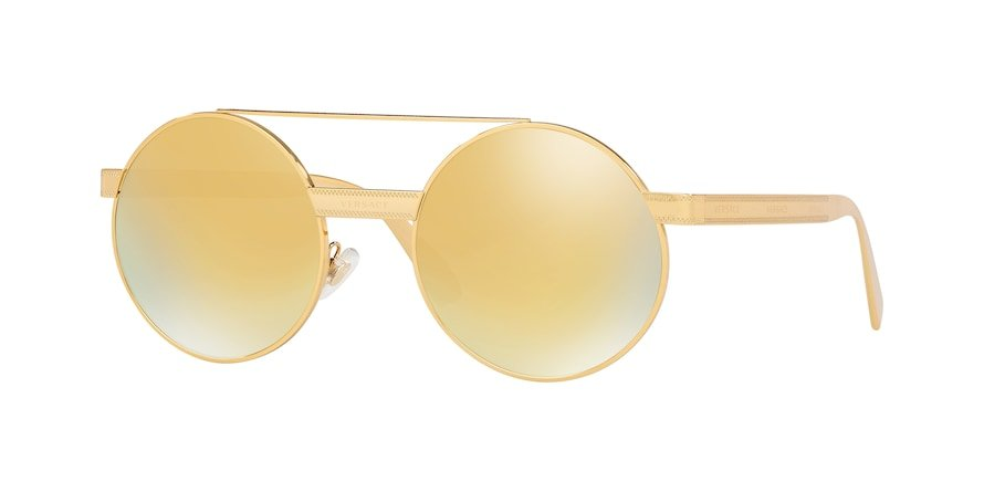 Versace VE2210  Gold Lentes Brown Mirror Gold