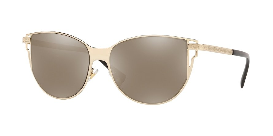 Versace VE2211  Pale Gold Lentes Light Brown Mirror Dark Gold