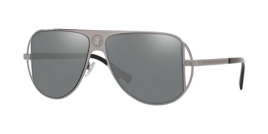 Versace VE2212  Gunmetal Lentes Grey Mirror Silver