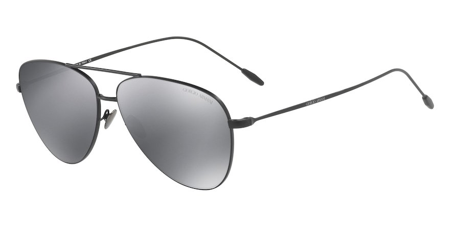 Giorgio Armani AR6049 Matte Black Lentes Light Grey Mirror Black