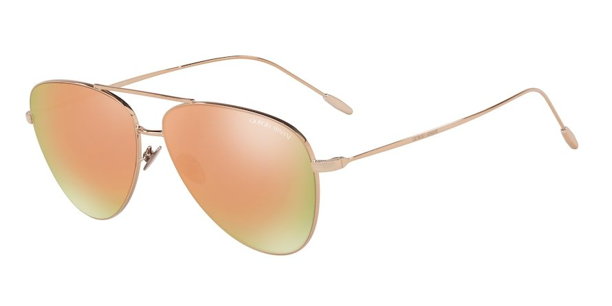 Giorgio Armani AR6049 Bronze Lentes Grey Mirror Rose Gold