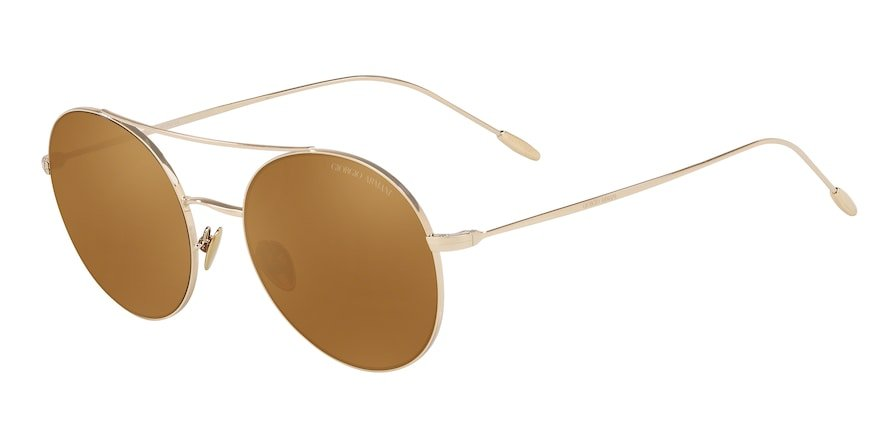 Giorgio Armani AR6050 Pale Gold Lentes Brown Mirror Gold