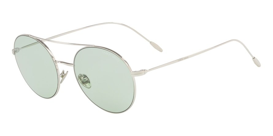Giorgio Armani AR6050 Silver Lentes Light Green