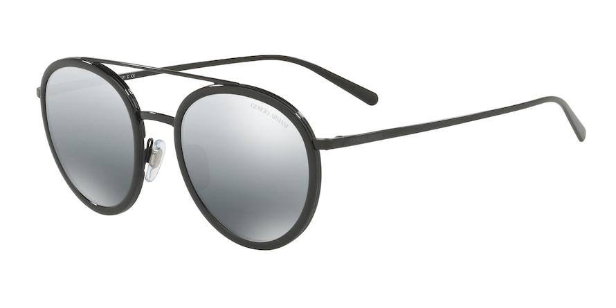 Giorgio Armani AR6051 Black Lentes Grey Mirror Silver Gradient