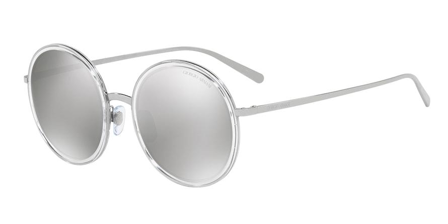Giorgio Armani AR6052 Gunmetal/Crystal Lentes Light Grey Mirror Silver