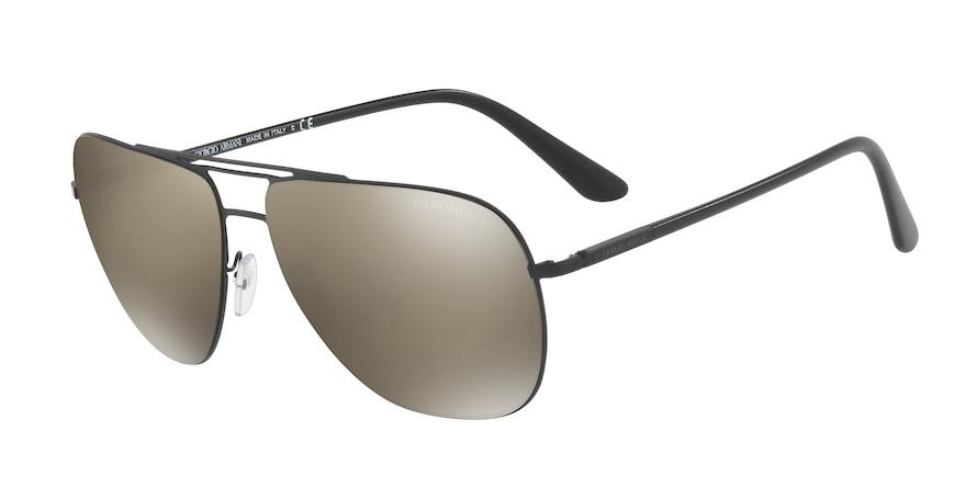 Giorgio Armani AR6060 Matte Black Lentes Light Brown Mirror Dark Gold