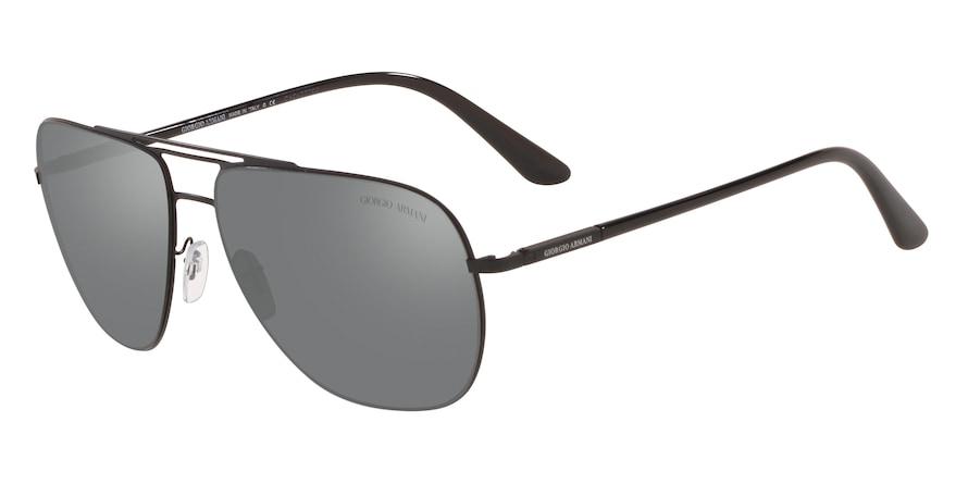 Giorgio Armani AR6060 Matte Black Lentes Grey Mirror Silver