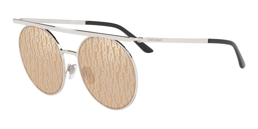 Giorgio Armani AR6069 Silver Lentes Brown Tamp Ga Silver Gold