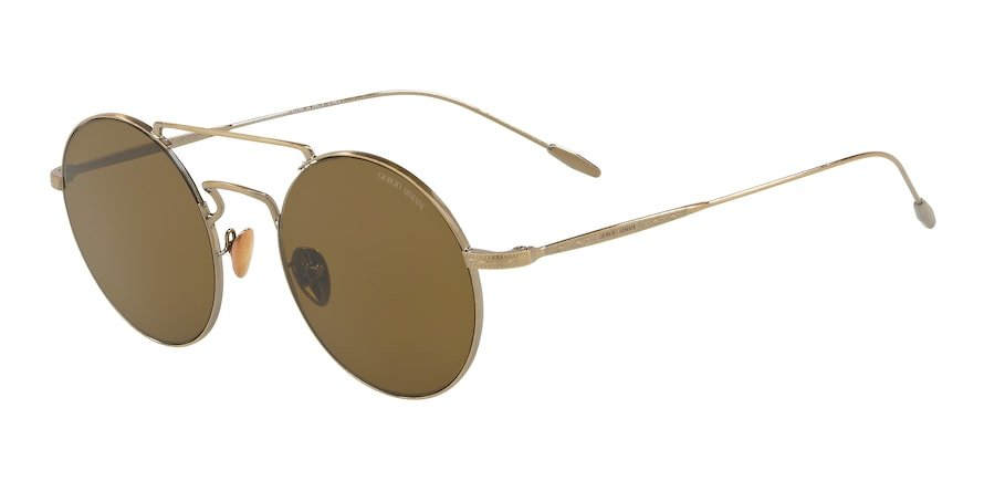 Giorgio Armani AR6072 Brushed Gold Lentes Brown