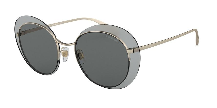 Giorgio Armani AR6079 Matte Pale Gold Lentes Grey