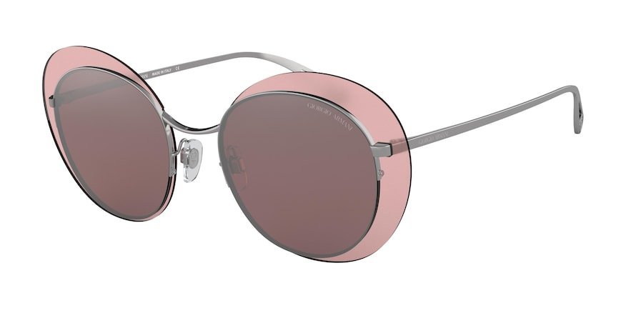 Giorgio Armani AR6079 Gunmetal Lentes Pink Mirror Silver