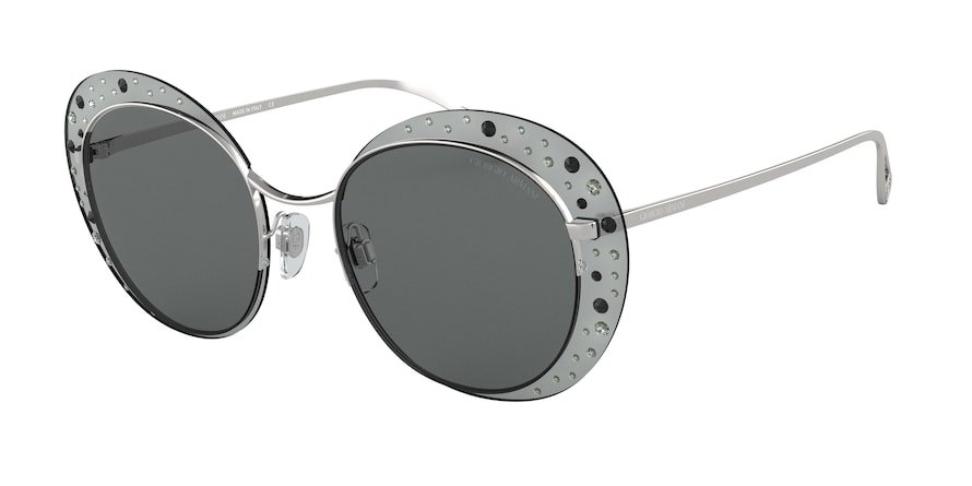 Giorgio Armani AR6079 Silver Lentes Grey