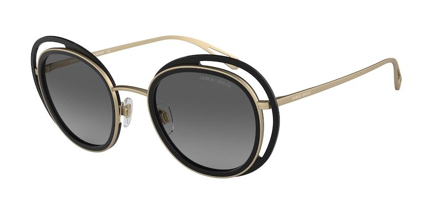 Giorgio Armani AR6081 Black/Matte Pale Gold Lentes Grey Gradient