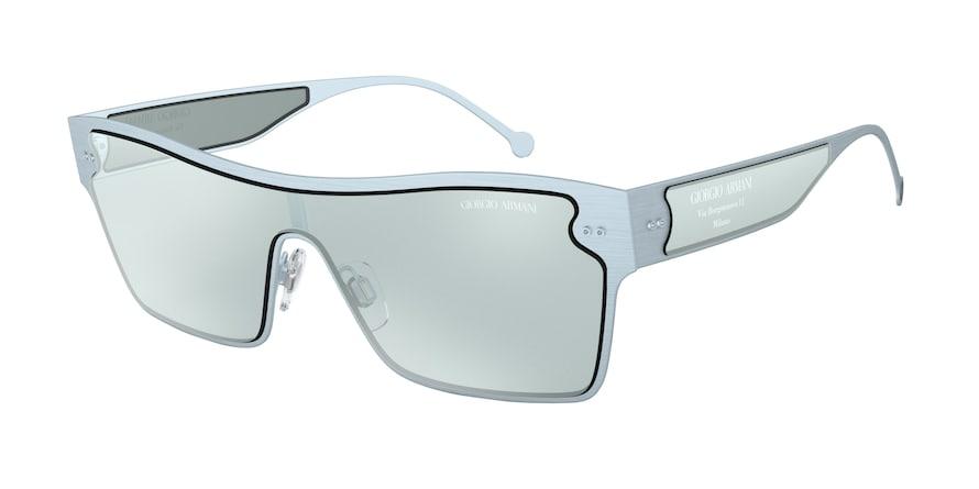 Giorgio Armani AR6088 Brushed Azure Lentes Azure Flash Silver