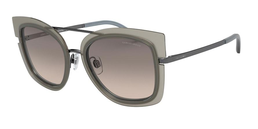 Giorgio Armani AR6090 Matte Gunmetal/Top Beige Azure Lentes Brown Gradient