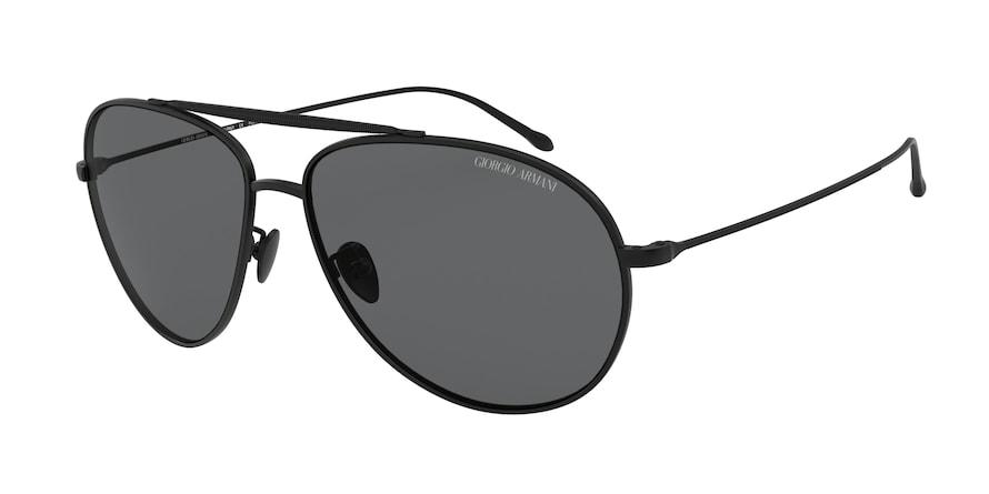 Giorgio Armani AR6093 Matte Black Lentes Polar Grey