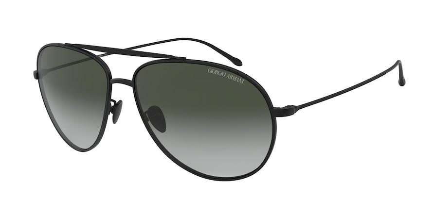 Giorgio Armani AR6093 Matte Black Lentes Green Gradient