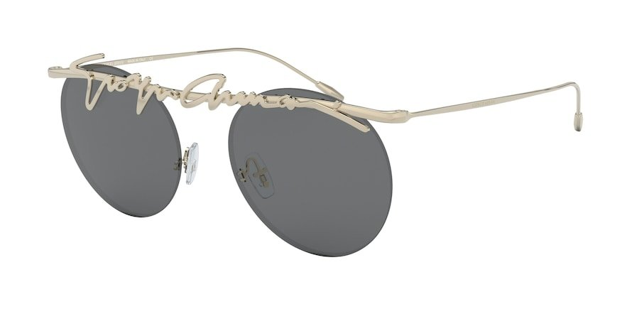 Giorgio Armani AR6094 Pale Gold Lentes Grey