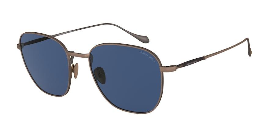 Giorgio Armani AR6096 Brushed Bronze Lentes Blue