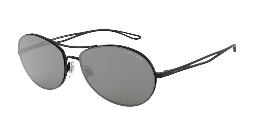 Giorgio Armani AR6099 Matte Black Lentes Grey Mirror Silver