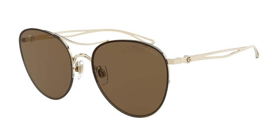 Giorgio Armani AR6101 Pale Gold Lentes Brown