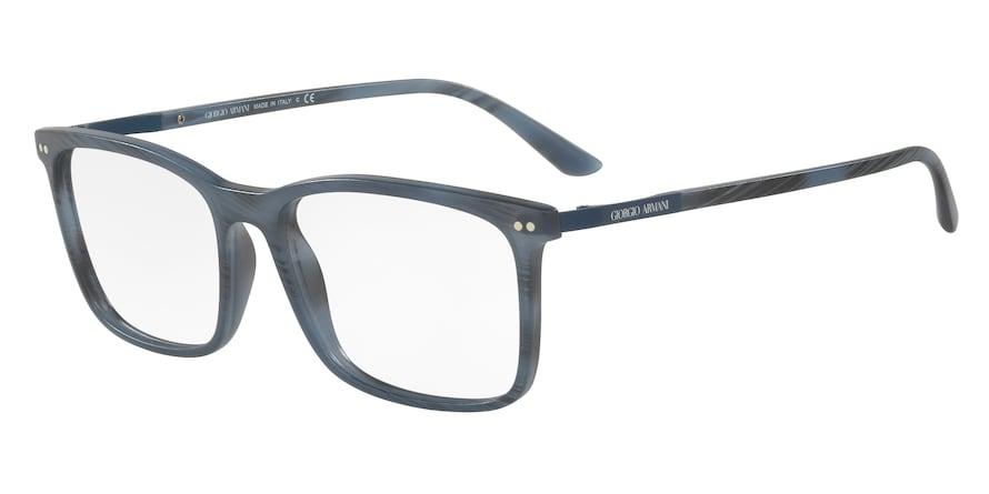 Giorgio Armani AR7122 Matte Striped Blue