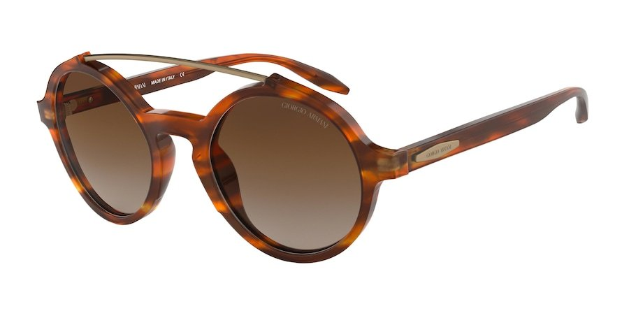 Giorgio Armani AR8114 Red Havana Lentes Brown Gradient