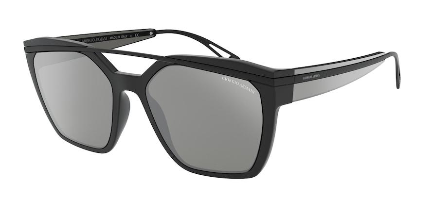 Giorgio Armani AR8125 Black Lentes Grey Mirror Silver