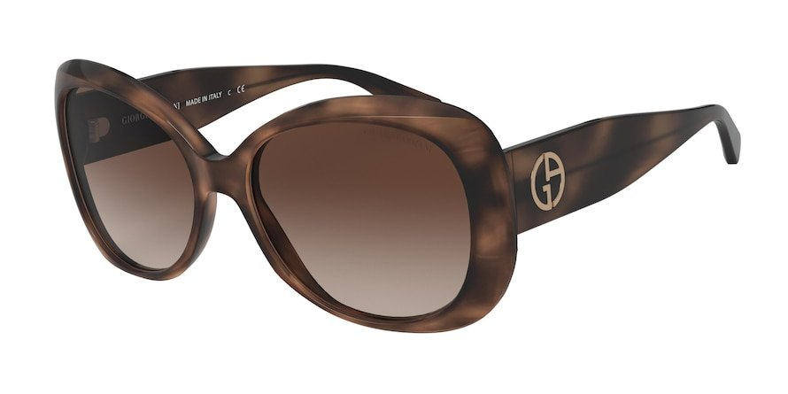 Giorgio Armani AR8132 Striped Brown Lentes Brown Gradient