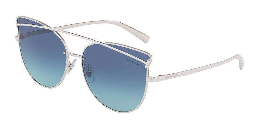 Tiffany TF3064 Silver Lentes Azure Gradient Blue