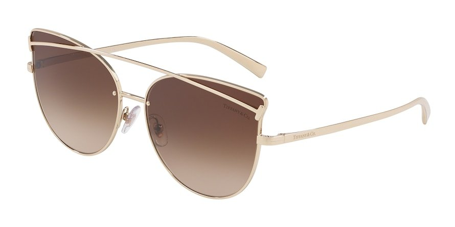 Tiffany TF3064 Pale Gold Lentes Brown Gradient