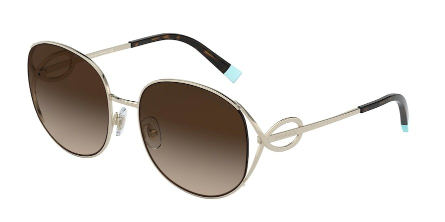 Tiffany TF3065 Pale Gold Lentes Brown Gradient