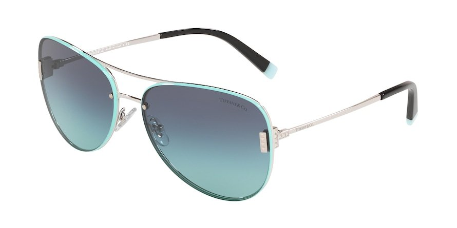 Tiffany TF3066 Silver Lentes Azure Gradient Blue