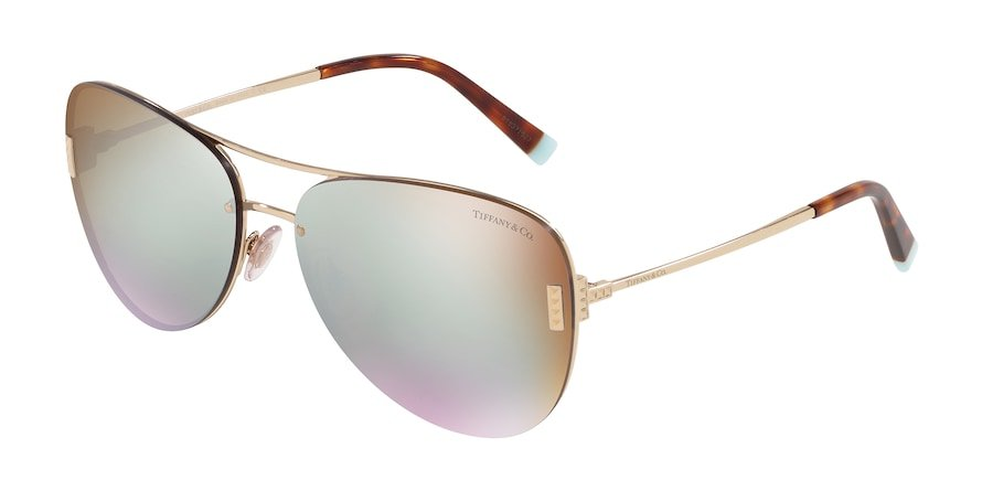 Tiffany TF3066 Pale Gold Lentes Brown Mirror White