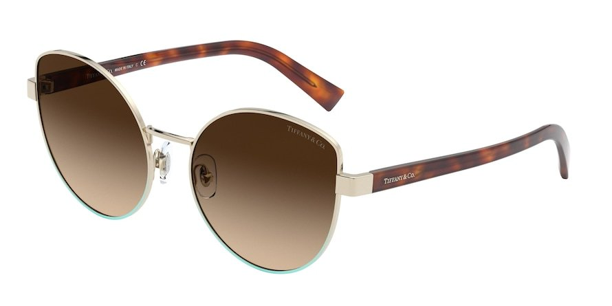 Tiffany TF3068 Pale Gold Gradient Blue Lentes Brown Gradient