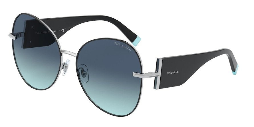 Tiffany TF3069 Silver/Black Lentes Azure Gradient Blue