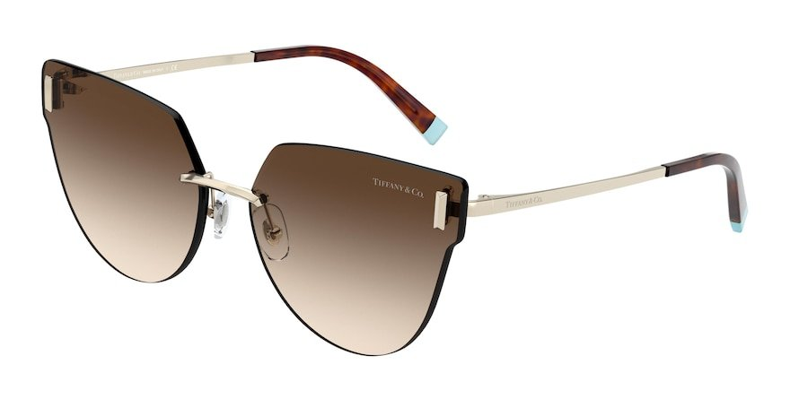 Tiffany TF3070 Pale Gold Lentes Brown Gradient