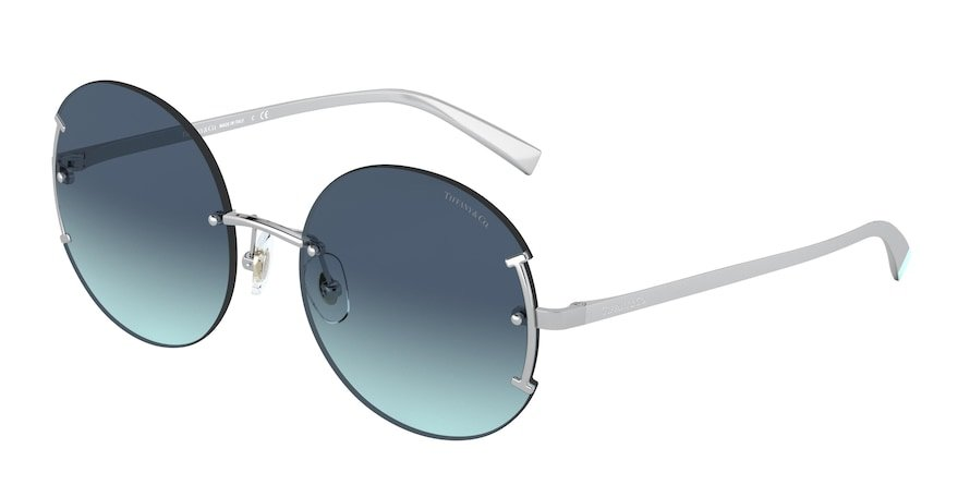 Tiffany TF3071 Silver Lentes Azure Gradient Blue